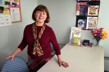 Baltimore, MD -- Dr. Maureen Black, director of the Growth and Nutrition Clinic at the University of Maryland School of Medicine, in a clinic room where families are videotaped while having a meal. She has been working on a long-term study of children who are failing to thrive, and what interventions work.