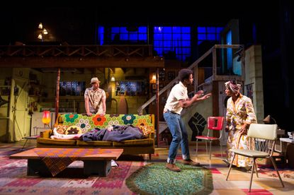 """From left, Brian Marable (Sly), Amari Cheatom (Lank) and Michelle Wilson (Chelle) in the Center Stage production of """"Detroit '67."""""""