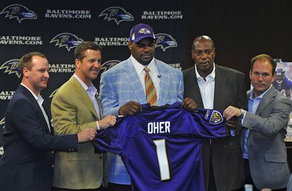 Will the Ravens use their first-round pick on offense for the first time since 2009?