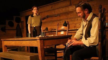 """A scene from """"Sally McCoy,"""" presented by Cohesion Theatre Company in 2017. Katharine Vary, left, was in the title role, with Jonas Gray as """"Devil"""" Anse Hatfield. Cohesion Theatre Company is going on hiatus."""