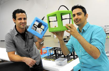 M3D is a new company founded by David Jones (left) and Michael Armani. They have designed a desktop 3D printer for consumers.
