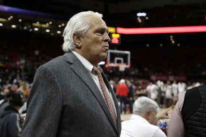 Thomas V. Mike Miller Jr. looks on from his seat location at a Maryland basketball game Feb. 4.