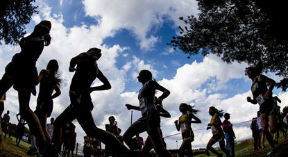 Whether running in a pack or eating pasta, cross-country coaches want their runners to be close together