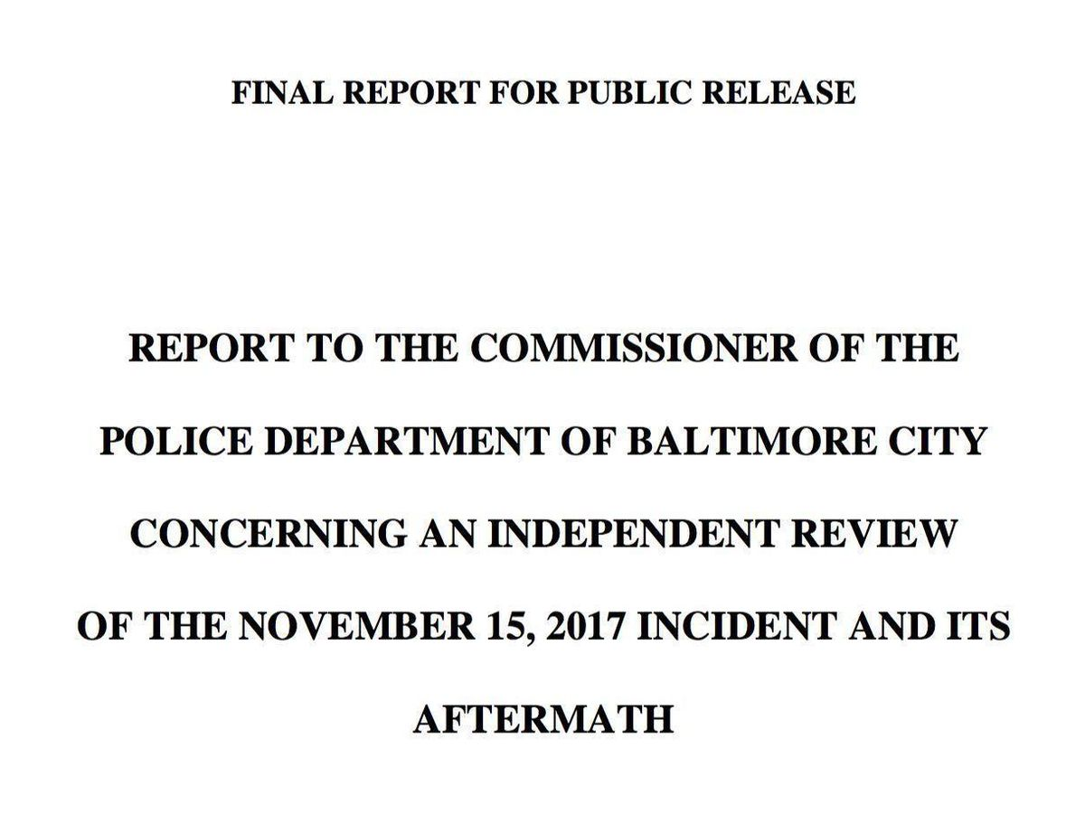 Panel report: Baltimore Police Det  Suiter had 'every