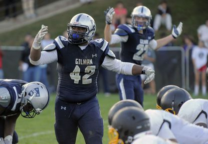 Gilman's Ellison Jordan announced his commitment to Penn State today. A defensive tackle entering his senior season, Jordan will be a member of Penn State's 2016 recruiting class.