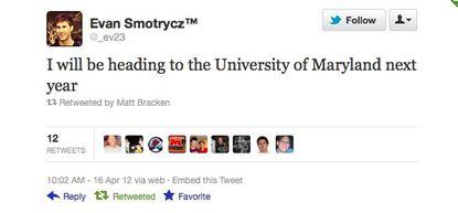Evan Smotrycz picks Maryland