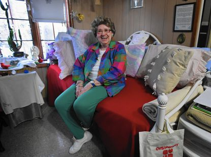 Parkville, Md.--12/19/16-- Carolyn Bochau, 92, who has no living relatives, sometimes feels lonely especially during the holidays. Kenneth K. Lam /Baltimore Sun KKL_4187 hs-seniors-lonely Lam