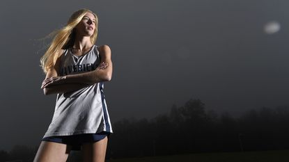 Manchester Valley freshman Rubie Goffena is the 2018 Carroll County Times Cross Country Runner of the Year.