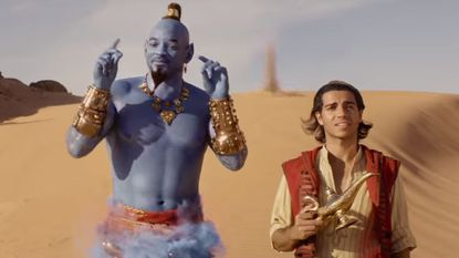 In Disney's first 'Aladdin' trailer, a blue Will Smith gives genie a hip-hop flair