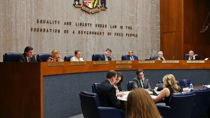 Baltimore County Council approved a bill Tuesday that requires more security for gun shops and gun shows. Six of seven council members voted in favor of the bill, proposed by County Executive Johnny Olszewski Jr.