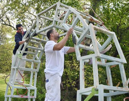 'Gateway' sculpture on Ma & Pa Trail gets 'new face'