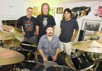 Members of the popular '80s heavy metal band Tension is reuniting for a string of concerts, including one at Sonar in Baltimore on Nov. 5. Tom Gattis, center rear, is being joined by new lead guitarist Petio Petev, left, bassist Tim O'Connor, right, and drummer Bill Giddings, front.