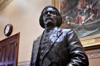 Statues of Frederick Douglass, pictured, and Harriet Tubman, created by StudioEIS, were installed earlier this year in the Old House of Delegates Chamber at the Maryland State House. The statues, which commemorate the abolition of slavery in Maryland on November 1, 1864, were created as a joint project of the Department of General Services and the Maryland State Archives, under the auspices of the State House Trust.