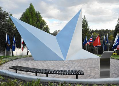 """Located at The Gate at Aberdeen Proving Ground, the """"Fallen Star"""" memorial dedicated to Major General Harry Greene, who was killed in Afghanistan, will soon be joined by a new sculpture dedicated to Gold Star Mother and Families."""