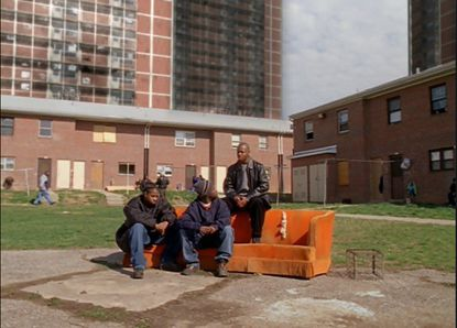 """""""The pit,"""" a low-rise housing project where D'Angelo Barksdale's crew hung out, is in West Baltimore's McCulloh Homes"""