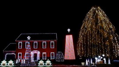 The Kurtz Family's 2017 Christmas light display in Bel Air as viewed on YouTube.