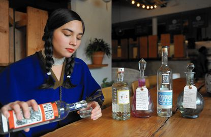 Clavel, owned by Lane Harlan, pictured, is a semifinalist for a James Beard Award in the Best Bar Program category.