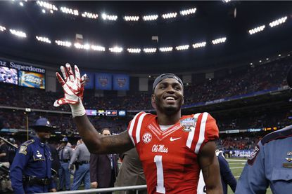 Mississippi wide receiver Laquon Treadwell celebrates after a victory over Oklahoma State in the Sugar Bowl.