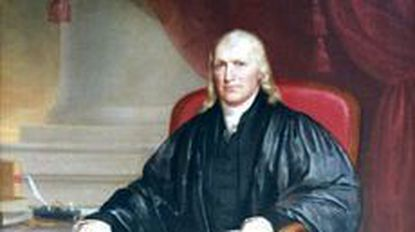 Samuel Chase missed the vote for independence, but not the chance to sign under John Hancock.