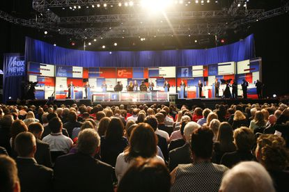 Republican Party divisions nearly upstage Donald Trump in first 2016 debate