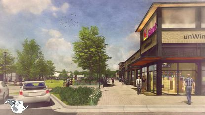 Kimco Realty's plans for redeveloping the Hickory Ridge Village Center have been on the drawing board for months.