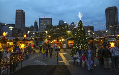 The German-style Christmas Village at the Inner Harbor opens with a special preview weekend Saturday and Sunday, then opens for real on Thanksgiving, running through Dec. 24.
