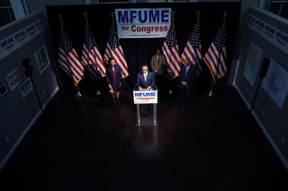 Twenty-four years after leaving the U.S. House, Baltimore Democrat Kweisi Mfume returns Tuesday to Capitol Hill to be sworn in as Maryland's newest congressman. Mfume is shown in an April 28, 2020, photo at his campaign headquarters in Baltimore.