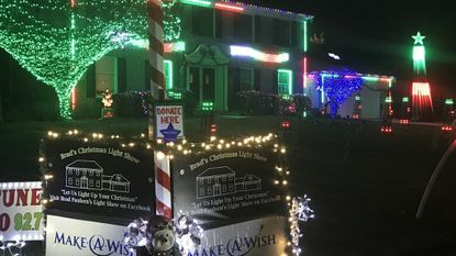 For six years, Brad Paulsen has been creating a light show at his home on Edwin Drive in Bel Air. He accepts donations for the Make-A-Wish Foundation and for the last three years has collected about $3,000.