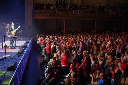 Entertainer Andy Grammer performs during a showcase of talent at the Mistletoe Meltdown at Modell Performing Arts Center at the Lyric in 2016.