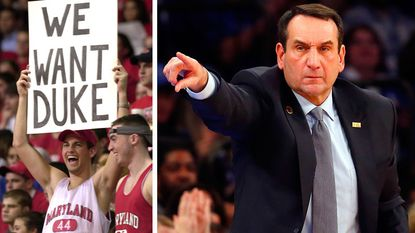 Maryland fans aren't getting a home game against Coach K and Duke this year -- or any time in the near future, probably.