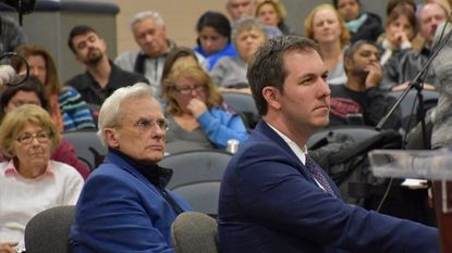Baltimore County Executive Johnny Olszewski Jr. and Councilman Wade Kach held a joint town hall on Feb. 13 in Timonium to collect public input on the Fiscal Year 2020 budget.