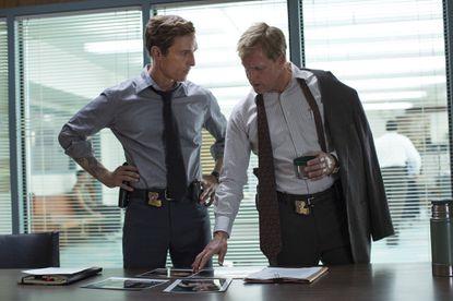 "Matthew McConaughey (left) and Woody Harrelson in ""True Detective."""