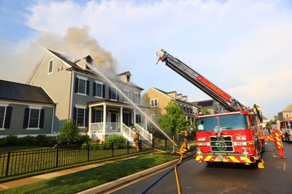 A house fire in the 11000 block of Holstein St. in Fulton was reported shortly before 6 p.m. Wednesday. Neighbors said lightning struck the house during a thunderstorm. The home has been declared uninhabitable. Credit: Howard County Department of Fire & Rescue Services