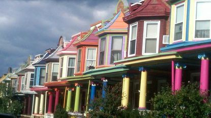 "Some ""painted ladies"" along Guilford Avenue in Charles Village. What inspired them?"