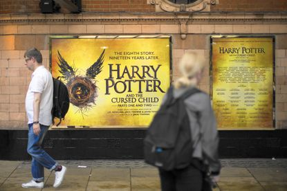 The new Harry Potter play and book follow on from the British author J.K. Rowling's acclaimed series of books about a boy wizard.