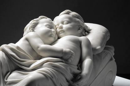 Sleeping Children by William Rinehart. Rinehart, a sculptor whose works can be seen all over Maryland, and who gave his name to MICA's sculpting school. His work will be on display at the Walters Art Museum.