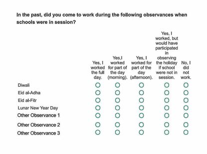 In survey, Howard schools ask parents, staff which holidays they observe