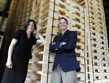 Annette and Shawn Walter left professional jobs to buy a 75-year-old pallet distribution business called Timber Industries, which they say better fits their lifestyle.