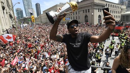 Raptors championship parade: Huge crowd takes to the streets to celebrate