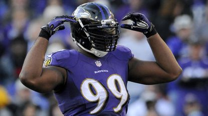 Ravens defensive lineman Chris Canty.