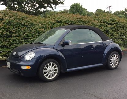 Columnist Dolly Merritt, one-time owner of a 1962 Volkswagen Beetle, has toyed with the idea of buying this, her daughter's 2005 Bug.