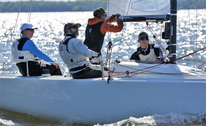 Owner-driver Peter Duncan and his top-notch crew aboard Relative Obscurity captured the J/70 North American Championships, which were limited to one day of racing due to adverse conditions.