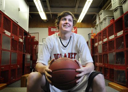 Dulaney basketball player Gavan Scanlan averages 18.6 points and can hit from the outside, drive to the basket and post players up in certain matchups