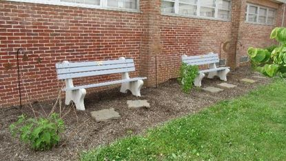 Green seats: Benches made from recycled bags debut at South Carroll High