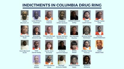 26 area residents have been indicted in connection with a cocaine and prescription pill drug ring based in Columbia.