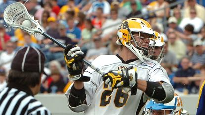 UMBC's Drew Westervelt takes a shot May 21, 2007, against Delaware in the NCAA Division I lacrosse quarterfinals at Navy.