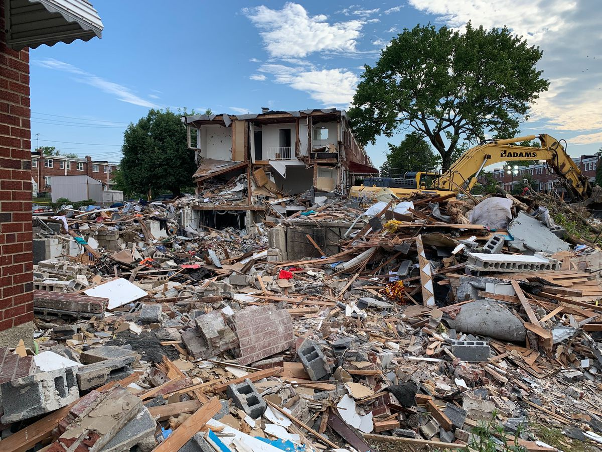 Cleaning the wreckage in Northwest Baltimore explosion | PHOTOS