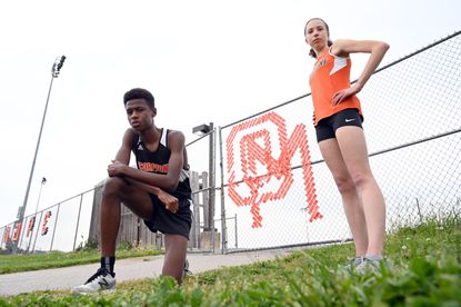 Oakland Mills seniors Baidy Ba and Ella Harris are the spring 2021 Howard County Cross Country Runners of the Year.
