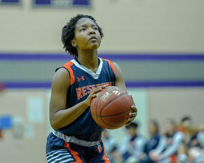 Tiffany Hooker, pictured in a game earlier this year, led Reservoir past Catonsville on Saturday.