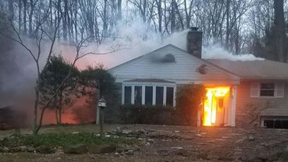 Fire destroyed a house on Timber Lane in Joppa early Saturday morning, March 3. Fire investigators said the two occupants got out safely, but their two cats perished. The cause remains under investigation.